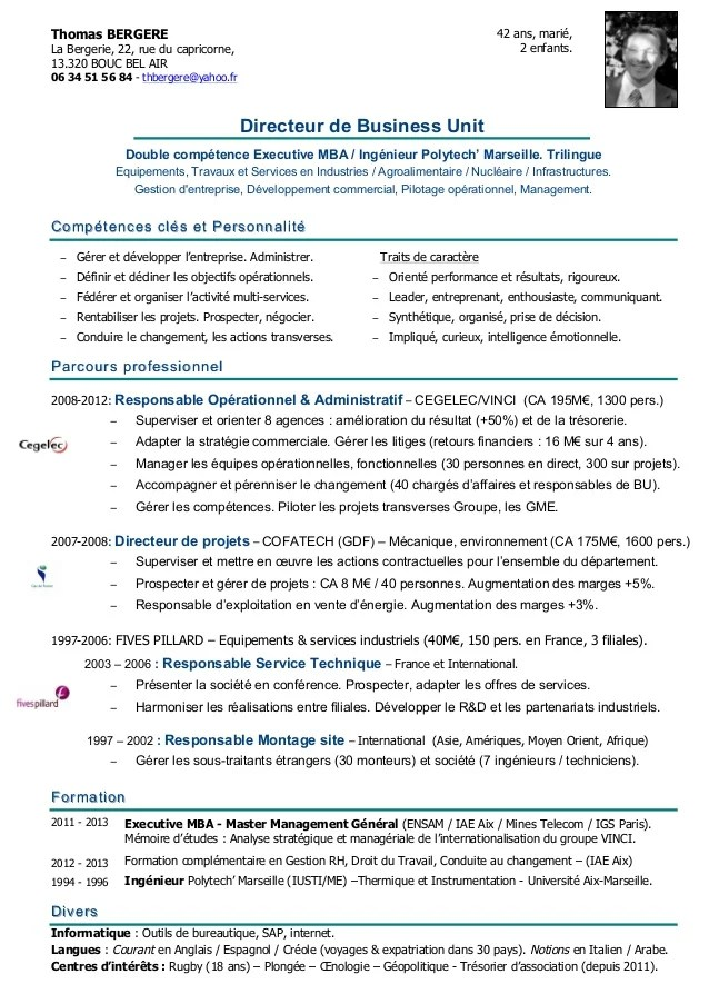 Exemple De Cv Ingenieur Recherche Et Developpement En Agroalimentaire