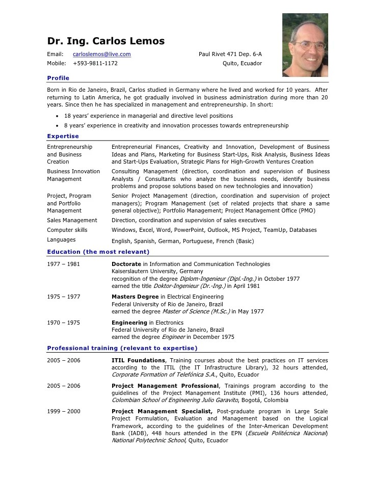 resume english template