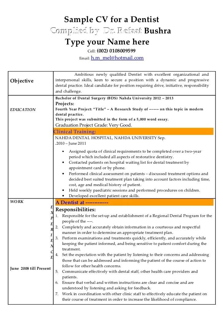 Dentist Resumes Samples. edit general dentistry resume samples ...