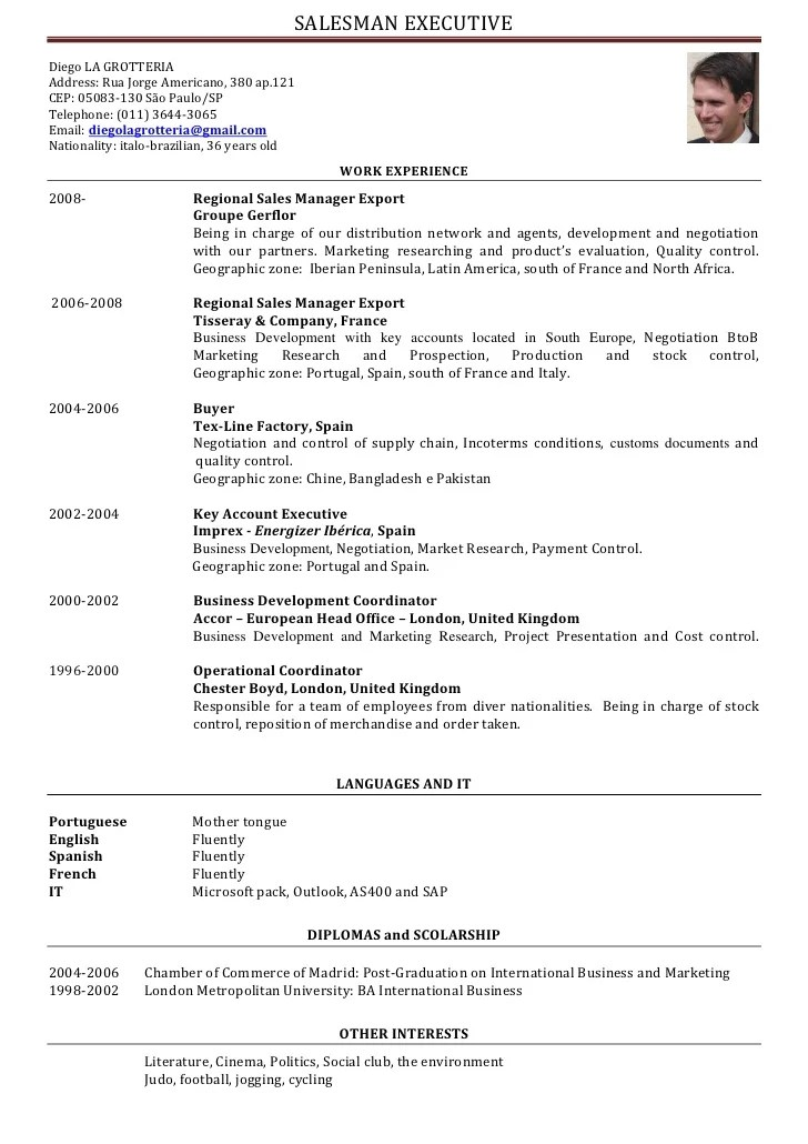 salesman resume sample doc sample resume restaurant server