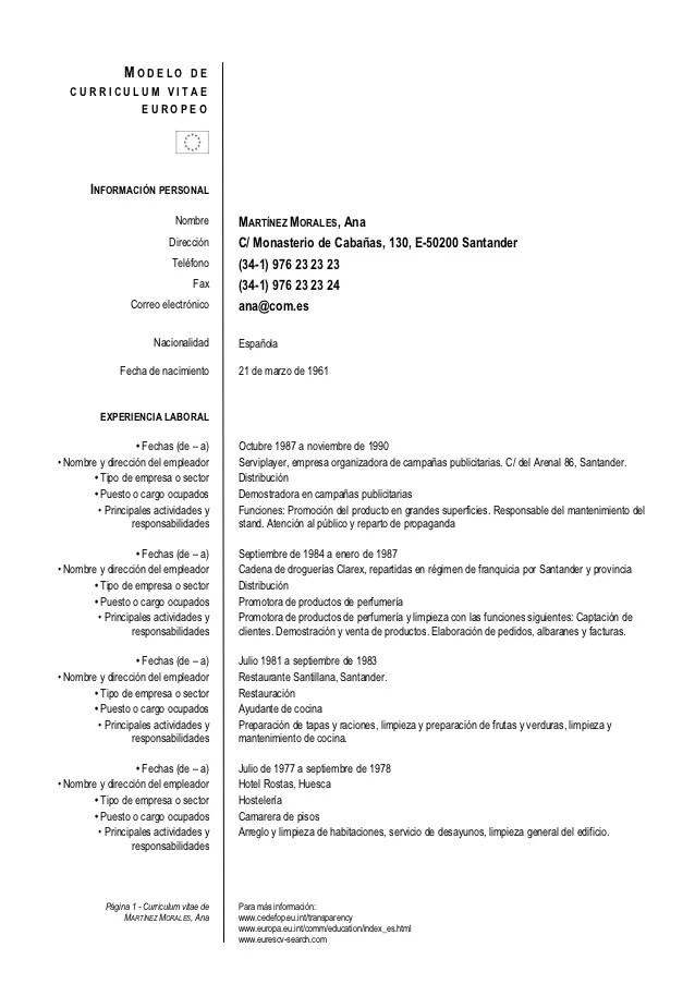 descargar curriculum vitae formato wordpad