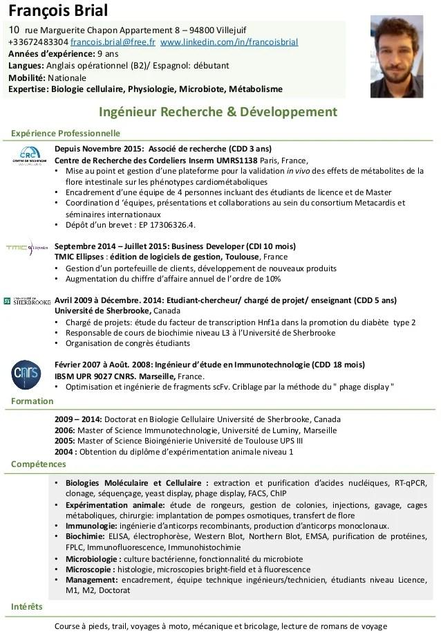 Cv Ingenieur R D Francois Brial 140918