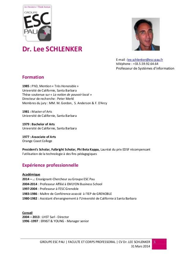 Cv Lee Schlenker