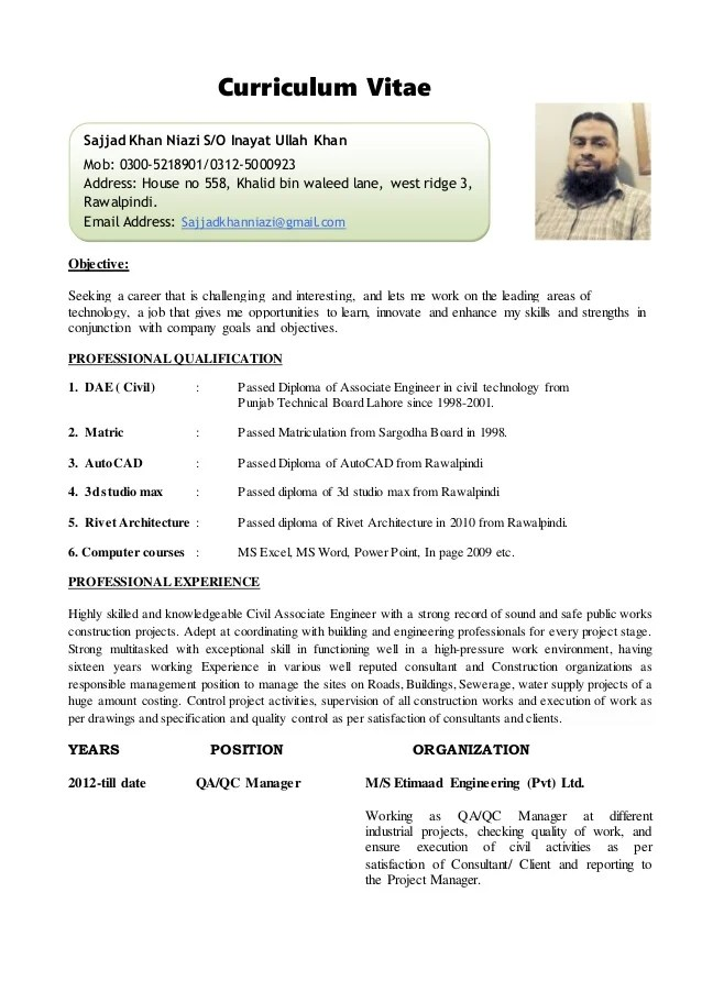 curriculum vitaepersonal information1 name sajjad ullah khan 2