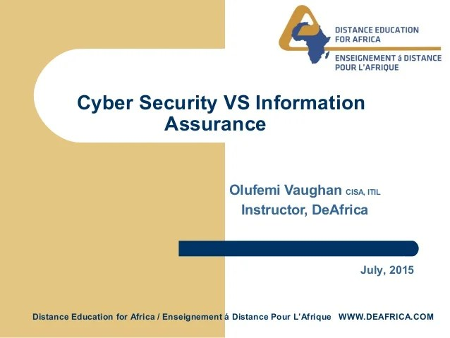 Information Security Versus Cyber Security