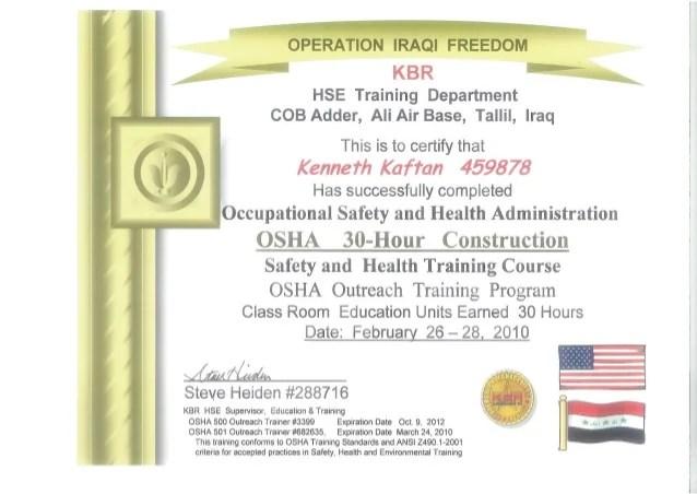 Osha 30 Hour Construction