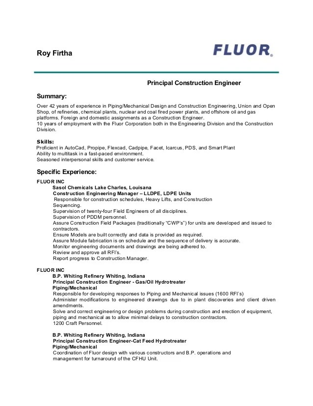 Current Resume. Examples Of Current Resumes Template. Fluor