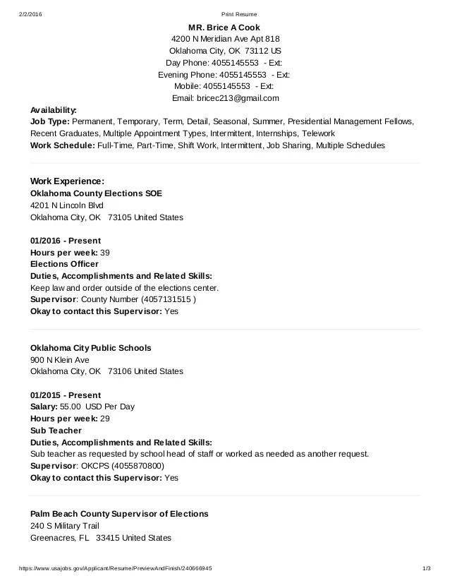 resume example view sample usajobs resume usajobs resume resume sample