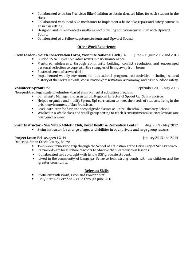 swim instructor resume resume for social networking extended