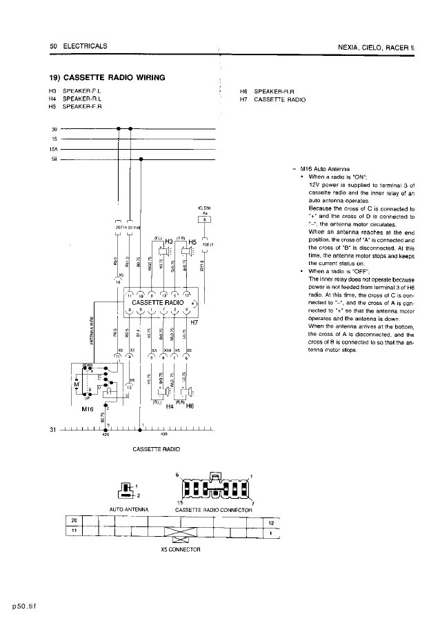 Diagram Daewoo Matiz 2000 2001 2002 2003 Diagram Schematic Circuit