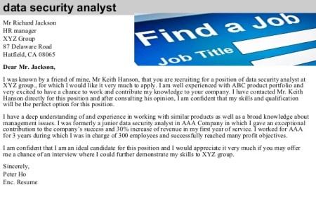 Free Resume 2018 » cover letter junior data analyst   Free Resume