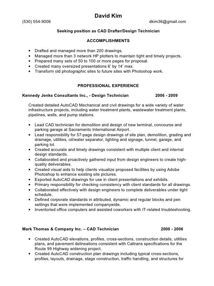 Autocad Cv Example. engineer learnist org. library technology job ...