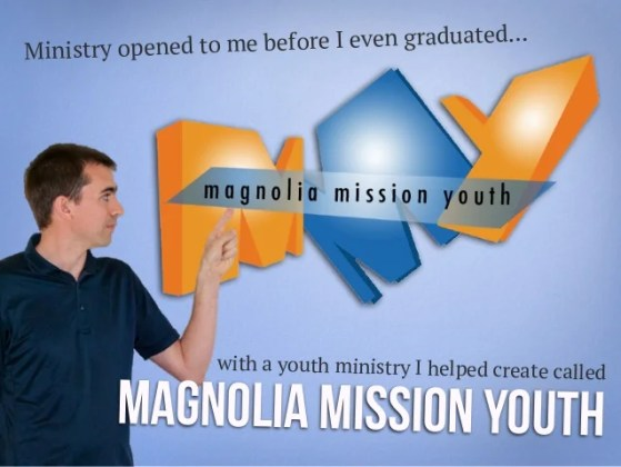 David Thompson Visual Resume for Youth Ministry Position Ministry