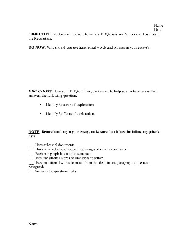 1998 A Push Dbq Essay Outline - Essay for you