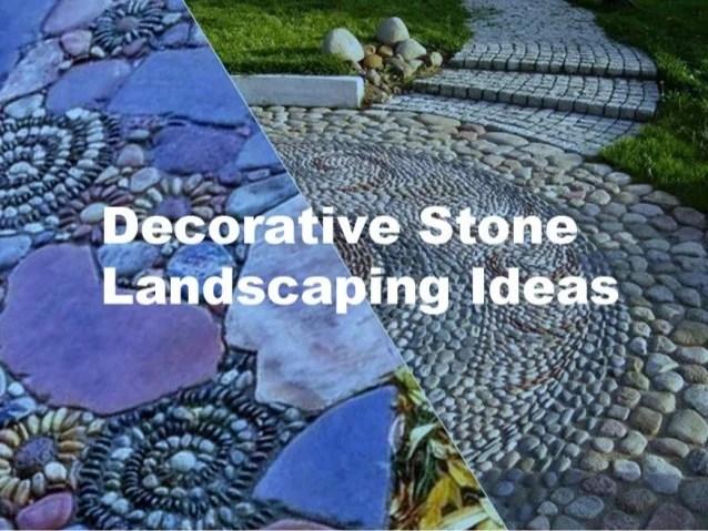 decorative stone landscaping ideas