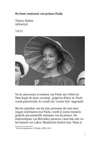 De foute contacten van prinses Paola