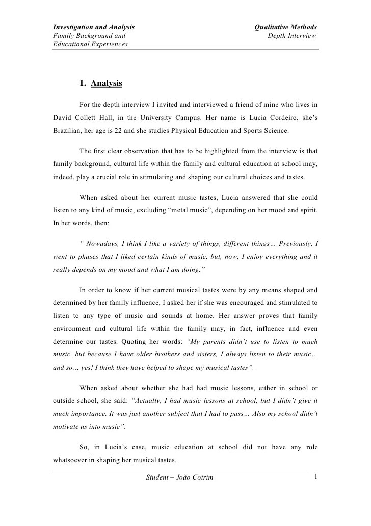 role of family essay