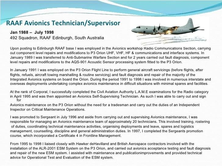 Avionics Technician Resume. sample resume account executive office ...