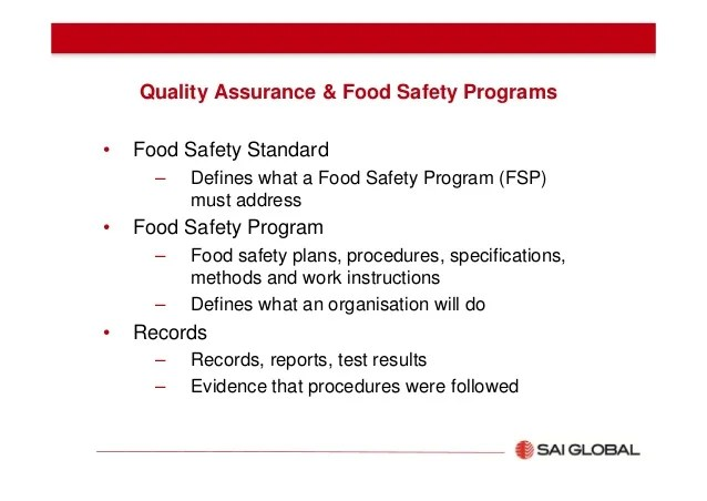 Food Safety Policy Template  developing effective checklists