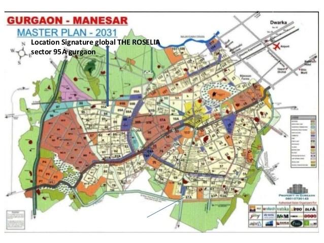 Location Signature global THE ROSELIA sector 95A gurgaon