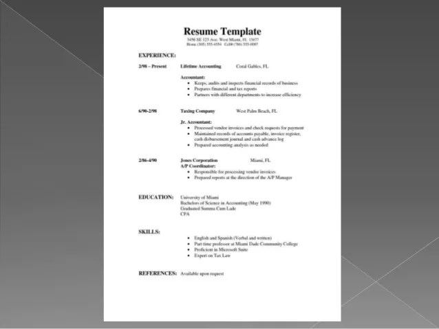 cv difference resumes template