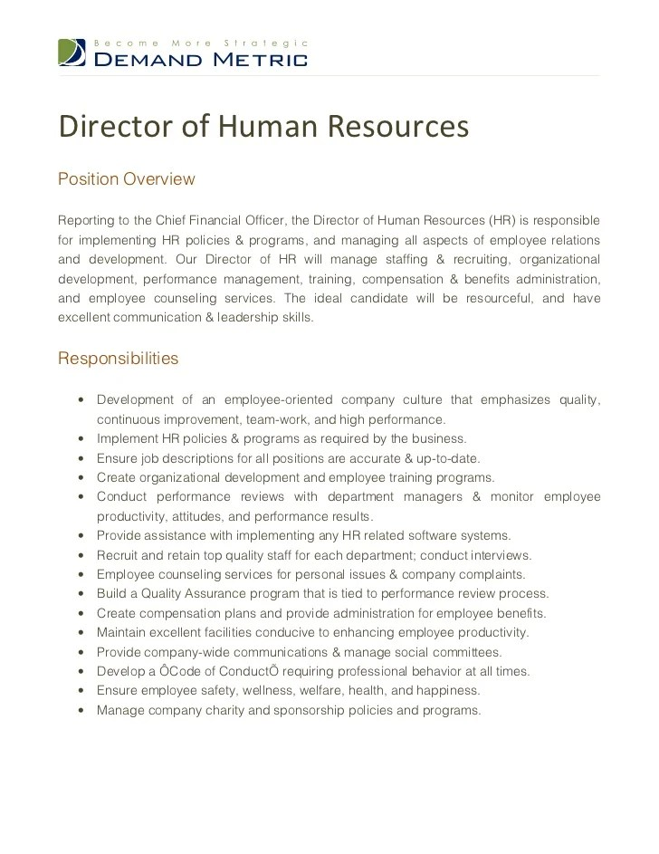 human resources skills resume vice president of human resources ...