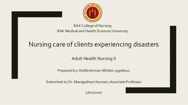 Disaster Management Nursing
