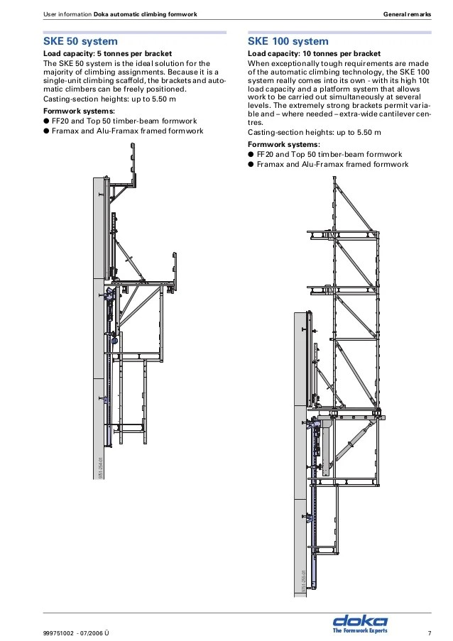Doka self climbing system