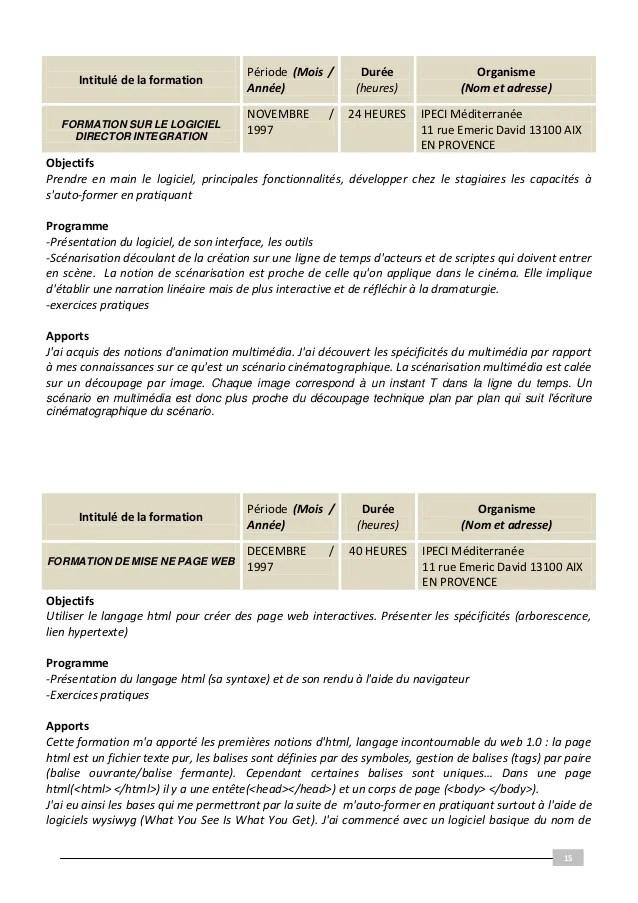 Dossier VAE Soutenu En Janvier 2011