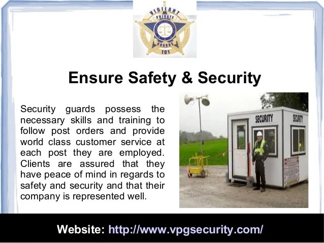 What Responsibility Security Guard