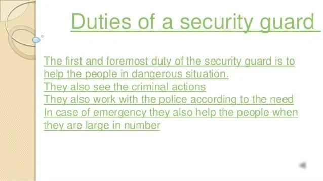Security Guard Duty