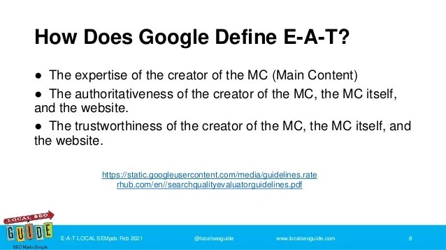 Google Defines E-A-T