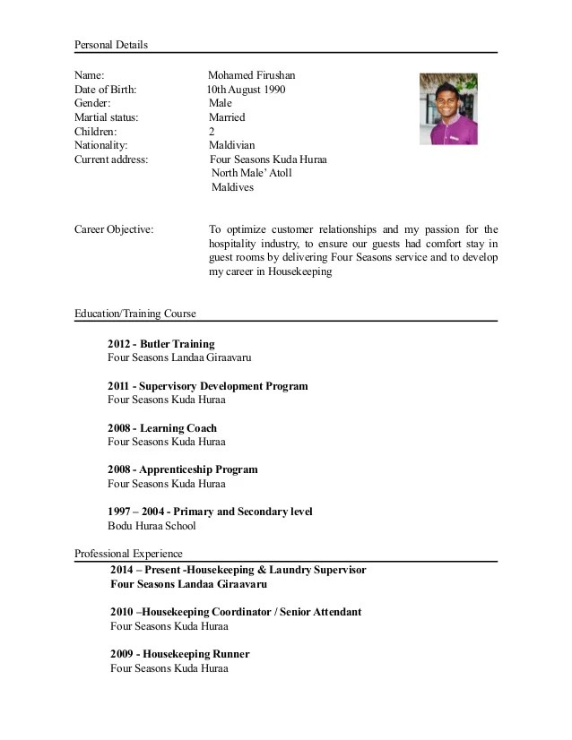 fi details cv personal details name mohamed firushan date of birth th