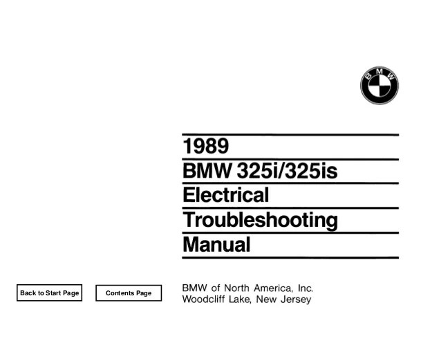 BMW E30 Wiring DIagram