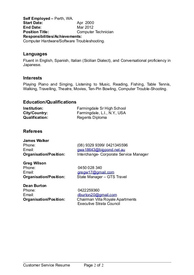 resume self employed the entrepreneur resume and cover letter what