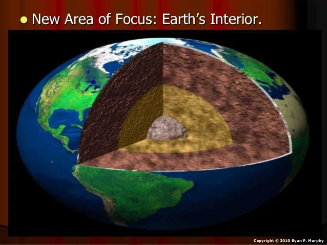 Layers of the Earth  Earth s Interior  Earth Science Lesson PowerPoin    Copyright      2010 Ryan P  Murphy  7      Learning about the earth s interior