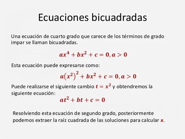 Como Resolver Cuarto Ecuaciones Grado