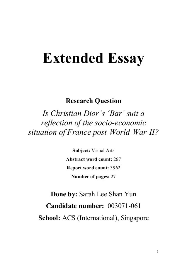 Personality essay questions