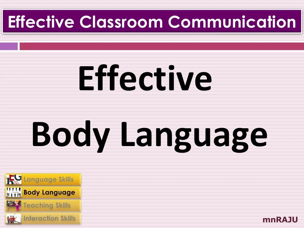Effective Communication Skills For Classroom