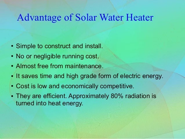 Working Principle of Solar Water Heater