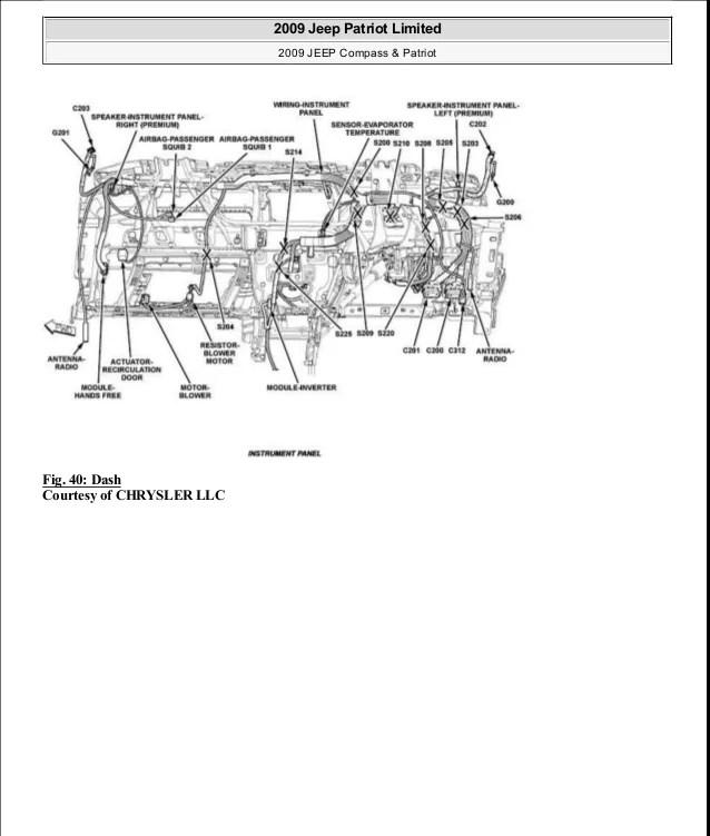 2009 JEEP PATRIOT FUSE BOX  Auto Electrical Wiring Diagram
