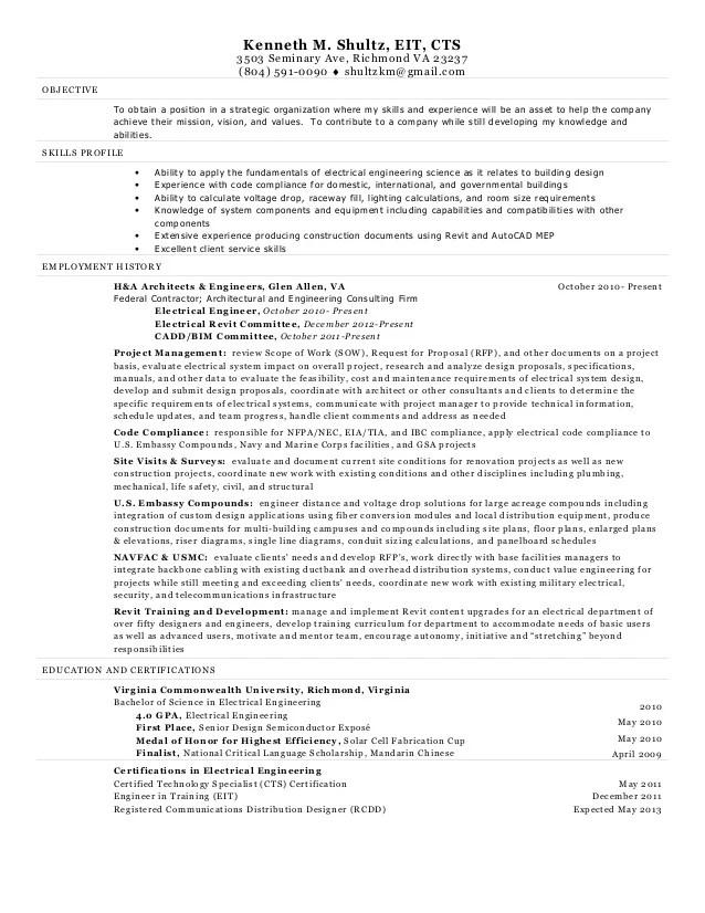 senior electrical engineer resumes