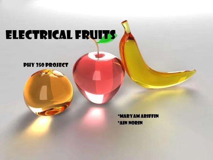 Fruit Light Bulb Science Project