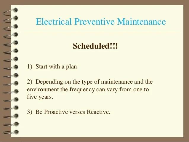 Electrical Maintenance Plan   Online Wiring Diagram