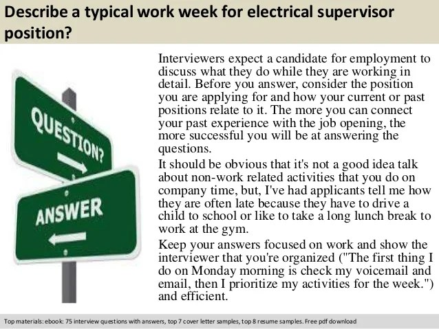 Resume For Electrician Supervisor  electrical cv examples electrical