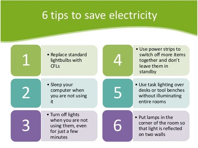 Six Effective Tips To Safe Energy Or Electricity At Your ...