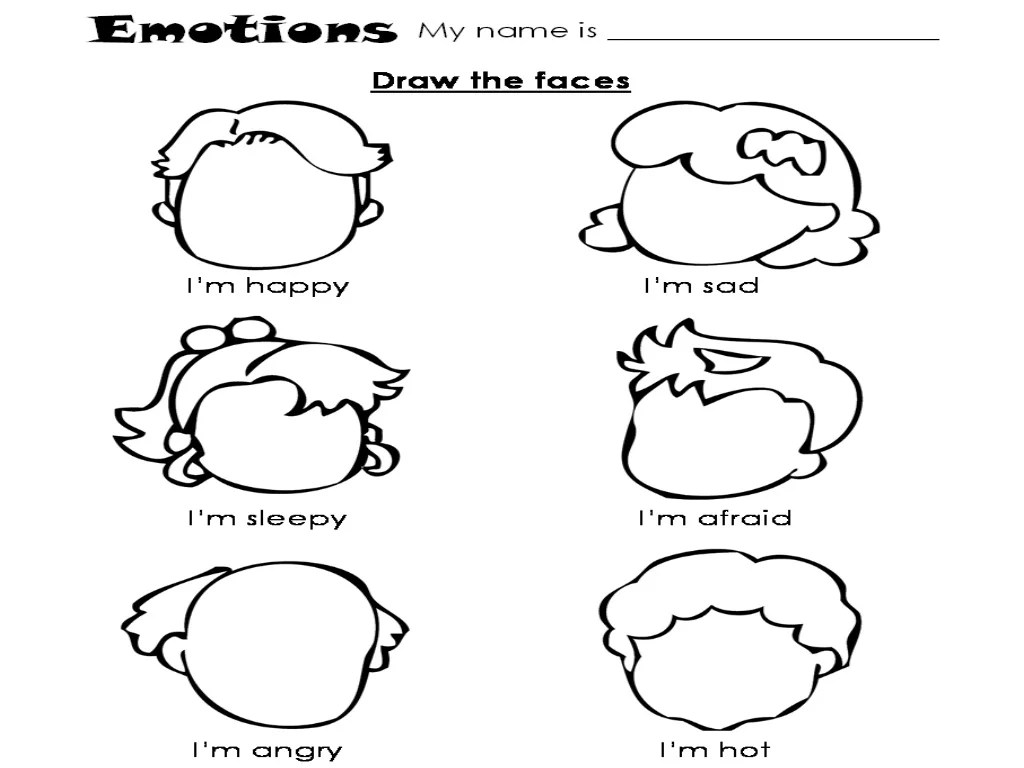 Emotion Worksheet