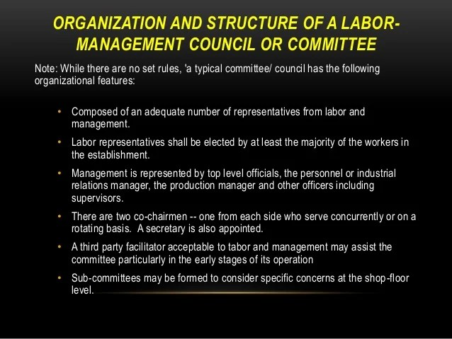 Employee Labor Management Relations Pp