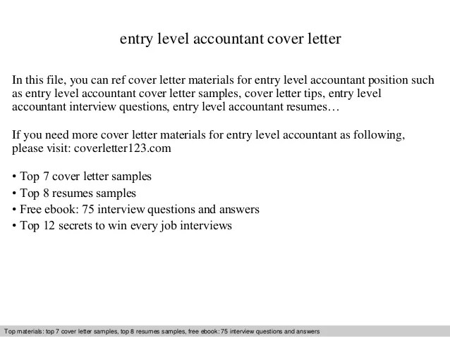 entry level accountant cover letter