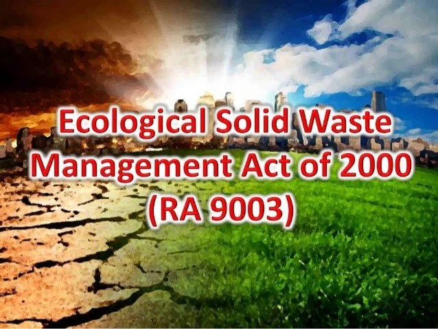 ecological solid waste management Solid waste management program forum - is a stakeholder group open to representatives from industry, consultants, environmental groups and regulatory agencies.